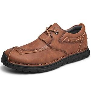 Image 2 - Мужские кожаные туфли в стиле ретро