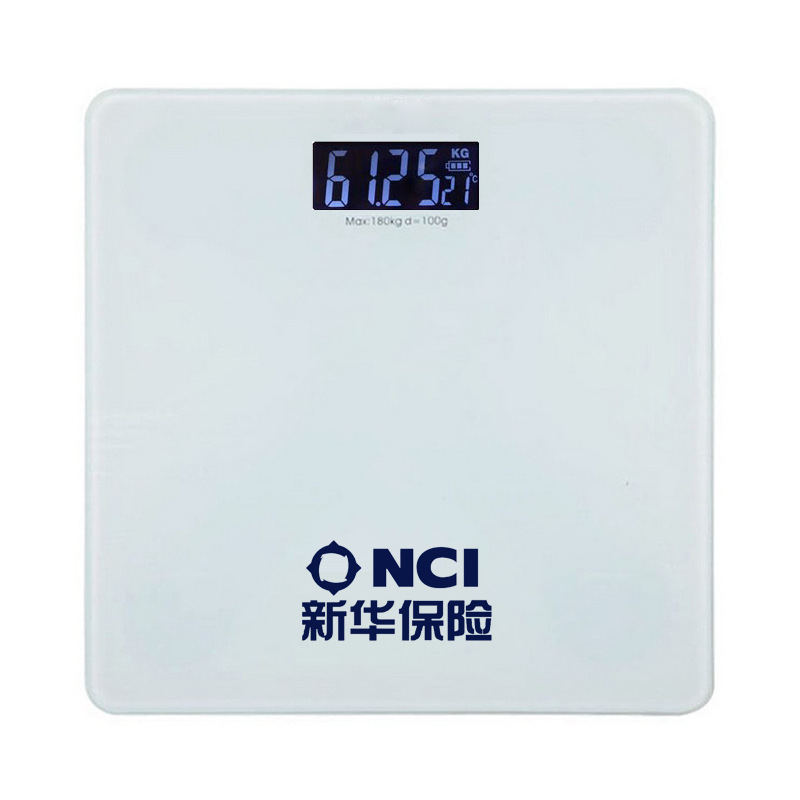Solid Color Square Temperature Night Vision Xinhua Insurance Weight Scale Electronic Scale Health Scale Xinhua Insurance Special image