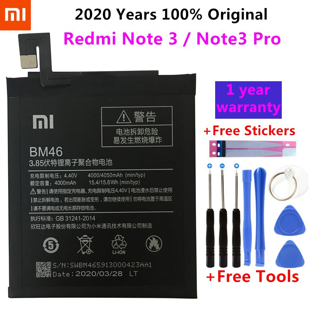 BM35 BM36 BM22 BM45 BM46 <font><b>Battery</b></font> For Xiaomi <font><b>Mi</b></font> 5 <font><b>5S</b></font> 4C Redmi Note 2 3 Replacement Phone Bateria High Capacity + Free Tools image