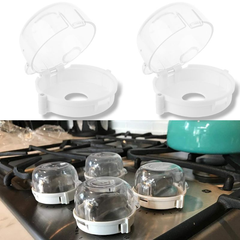 1/2/4Pcs Kids Baby Gas Stove Switch Protective Cover Locks Child Proof Oven Cooker Knob Sleeve Children Safety Care Home Kitchen
