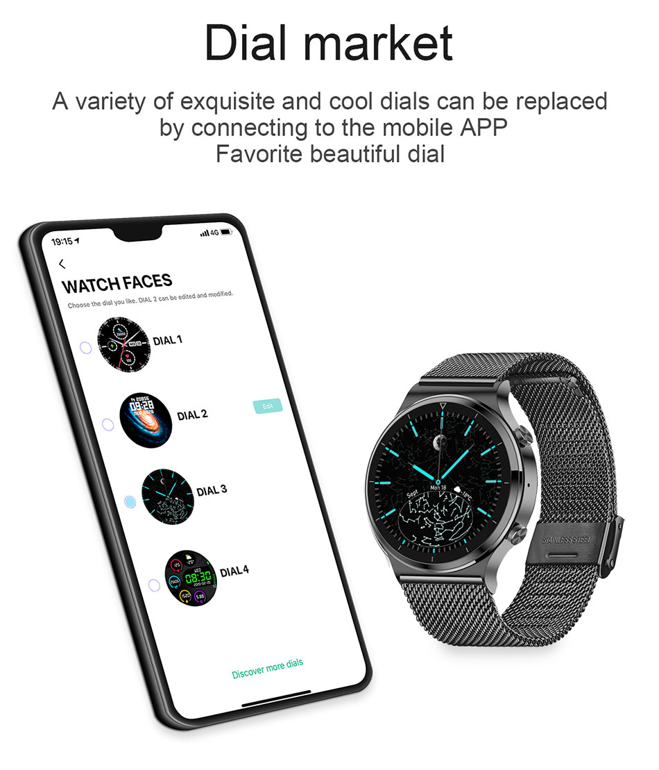 H129773abf70942c8b62ed02c2677d6a1r LIGE New Smart watch Men Heart rate Blood pressure Full touch screen sports Fitness watch Bluetooth for Android iOS smart watch