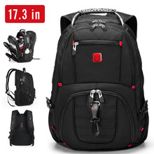 Дорожный рюкзак с защитой от кражи для мужчин, деловой портфель для ноутбука 17,3 дюйма с кодовым замком и USB-зарядкой, школьные ранцы для подр...