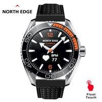 北エッジメンズデジタルスマート腕時計スポーツ心拍数モニターの Bluetooth 電話通話リストバンド 50 メートル防水のための IOS Android