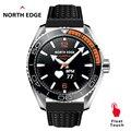 North Edge мужские Цифровые Смарт часы спортивные монитор сердечного ритма Bluetooth телефон браслет для вызовов 50 м водонепроницаемый ремешок для ...