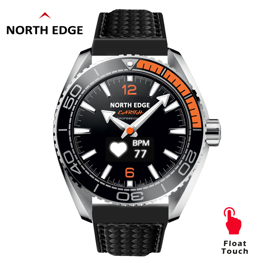 North Edge Men's Digital Watches Sport Smart Watches Military Luxury Pedometer Heart Rate Phone Call Smartphone Waterproof 50M