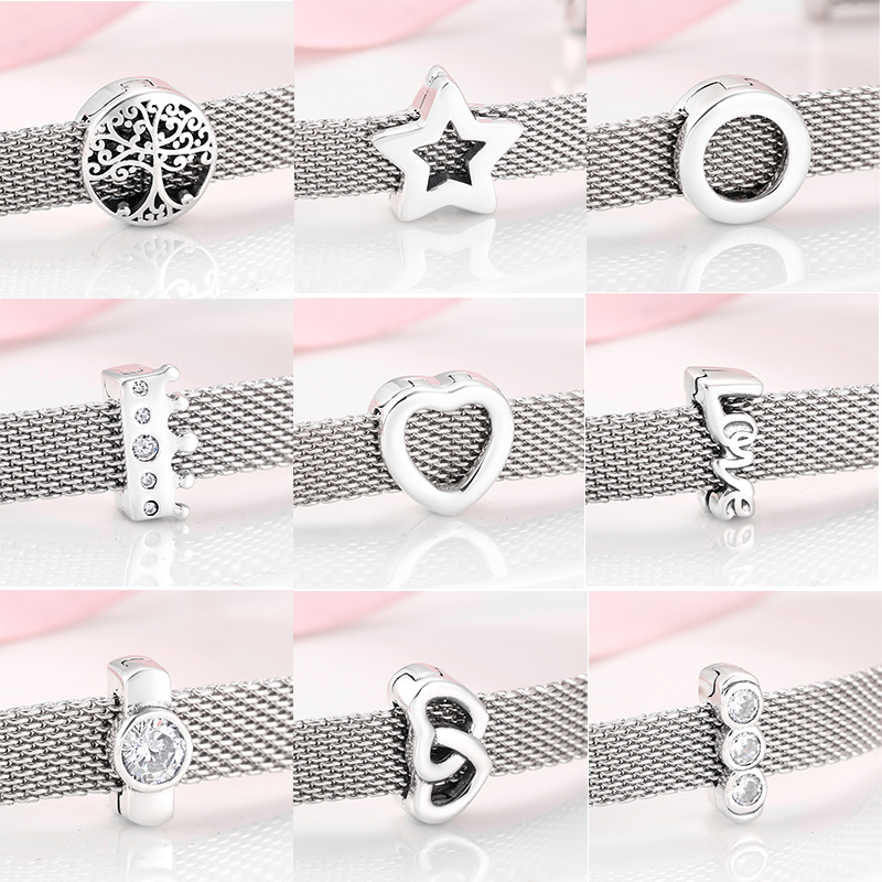 Charm Jewelry-Making Bracelet Women Reflections 925-Sterling-Silver Clips Beads Original