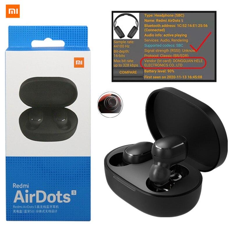 Original 2020 nova xiaomi redmi airdots s tws blutooth v5.0 redução de ruído sem fio fones ouvido com microfone controle ai fone ouvido|Fones de ouvido|   -
