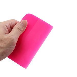 Image 5 - 6.5/10/12cm 5.5/7.5cm Width Pink Scraper Soft Rubber Car Window Squeegee Tint Tools Glass Water Wiper Vinyl Wrap Blade B72 B77