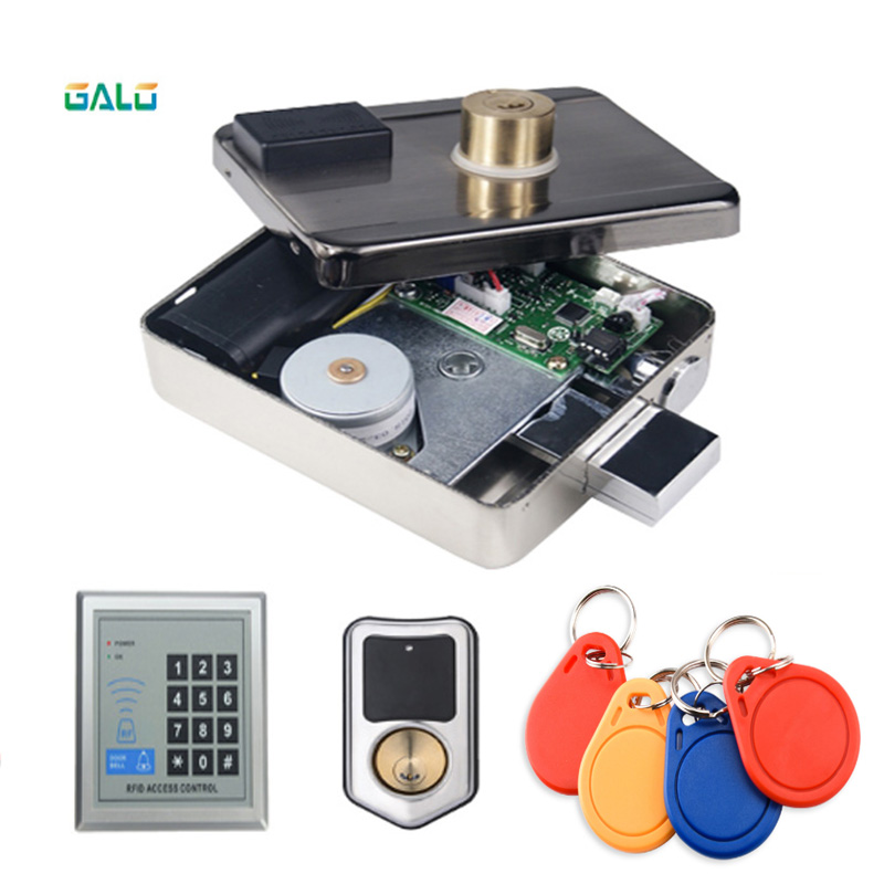 Mobile APP Remote Control RFID Electronic Door Lock IC Anti-theft Lock Smart Lock Castle Remote Control Lock