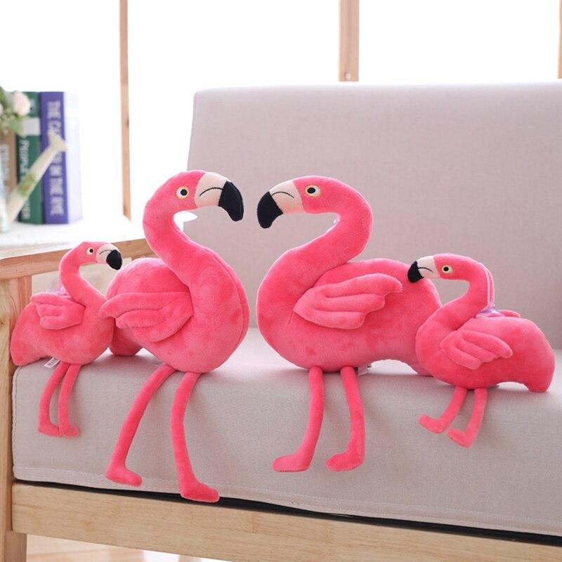 Full Length 25/40cm Pink Girl Heart Flamingo Doll Plush Toy Dolls Send Children Girl Gift Toy