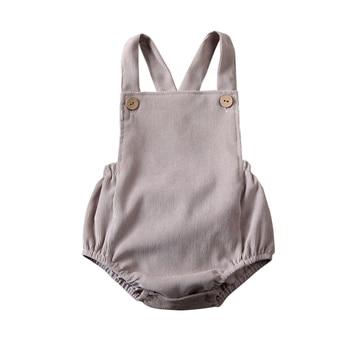Corduroy Backless Bodysuit gray