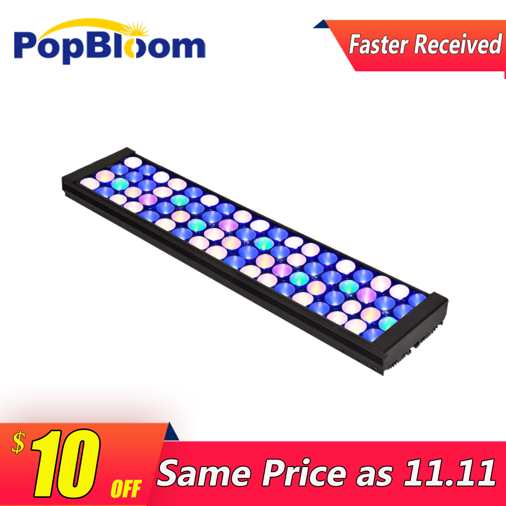 PopBloom led freshwater aquarium light lamp for fishbowl lighting shine sunsun dimmable programmable FI4BP1
