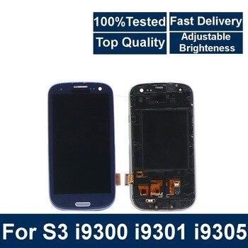 Per Samsung Galaxy S3 I9300 I9301 I9301i I9305 Telefono Display Lcd Touch Screen Digitizer Assembly con Controllo di Luminosità-in Schermi LCD per cellulare da Cellulari e telecomunicazioni su YAN XIN Store