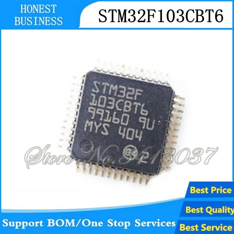 2pcs/lot STM32F103CBT6 STM32F103CB 32F103CBT6 128KB QFP48 ARM New