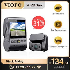Image 1 - רכב DVRS דאש מצלמת עם מבט אחורי מצלמה לרכב וידאו מקליט מלא HD ראיית לילה 2 מצלמה מקליט עם g חיישן A129DUO Dashcam