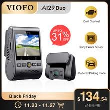 車のdvrダッシュカムとリアビューカメラ車のビデオレコーダーフルhdナイトビジョン2カメラレコーダーセンサーA129DUO dashcam