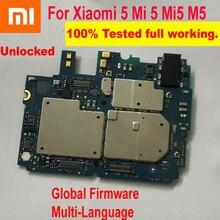 Oryginalny Xiao mi 5 mi 5 mi 5 M5 oprogramowanie sprzętowe na cały świat w wielu językach odblokować płyta główna płyta główna układy logiczne opłata za giętki kabel do płytki drukowanej