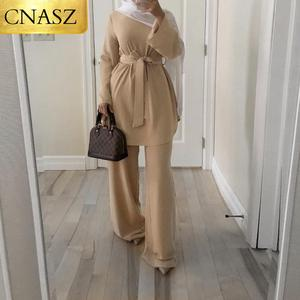 New Fashion Simple Beautiful and Refreshing Dress Middle East Dubai Suit Islamic Turkey Fashion Dubai Ladies Clothing
