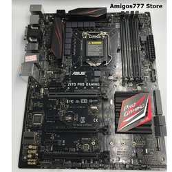 LGA 1151 DDR4 ASUS Z170 PRO GAMING oryginalna płyta główna komputera Z170 LGA 1151 dla rdzeń i7 i5 i3 DDR4 64G USB3.0 M.2 płyty głównej płyta główna w Płyty główne od Komputer i biuro na