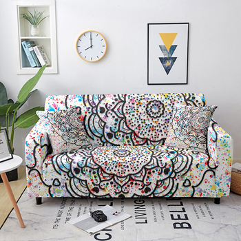 marble sofa cover sofa slipcovers elastic couch covers sectional sofa covers sofa set loveseat armchair sofa couch cover Stretch Mandala Sofa Cover Elastic Sofa Covers for Living Room Sofa Slipcovers Corner Sofa Towel Couch Cover Loveseat Slipcover