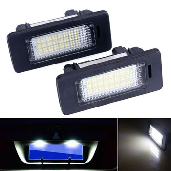 A Pair 24 LED 3528 SMD LED License Plate Lights Lamps Bulbs 6000K Cool White Fit For E82 E90 E92 E93 M3 E39 E60 E70 X5 image