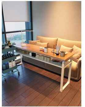 Wood color Japanese nail table European nail table single and double economical simple makeup nail table and chair set