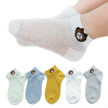 5Pairs/lot Infant Baby Socks Summer Mesh Thin for Kids Cotton Newborn Boy Girl Toddler Clothes Accessories