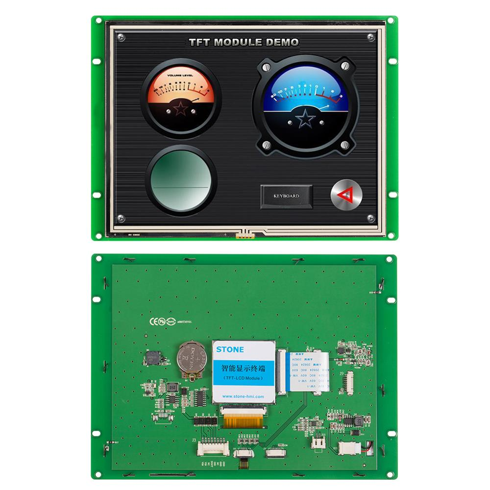 8.0 Inch Open Frame/ Embedded Programmable LCD Touch Panel Support Any Microcontroller