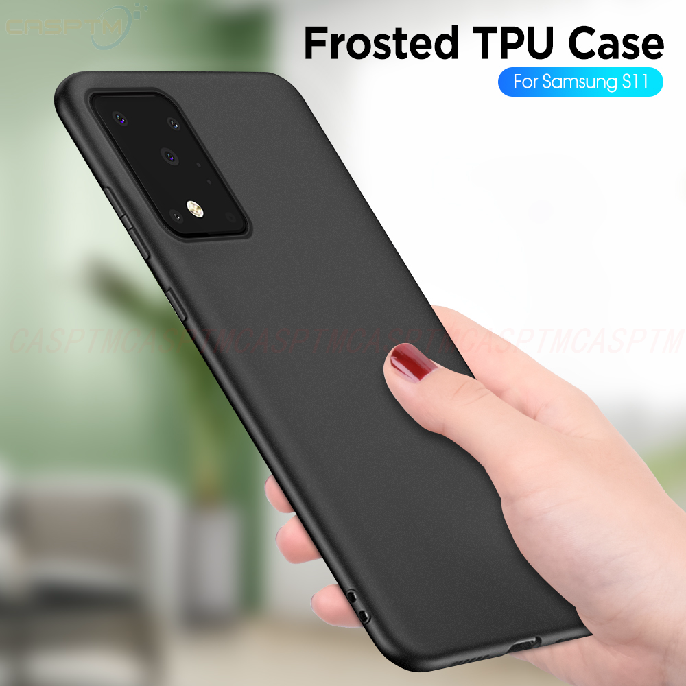 Soft TPU Case Voor samsung galaxy S11 PLUS S10 M30S Zwart Matte Back Cover Op voor samsung A30 A50 A51 a71 S11E Siliconen Funda