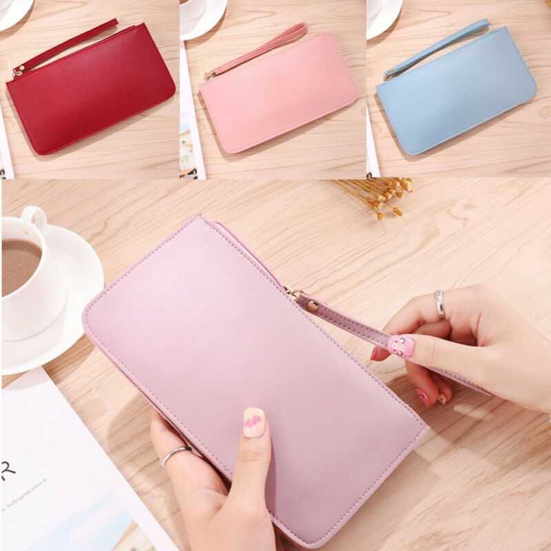 Women Clutch PU Leather Wallet Lady Case Purse Handbag Long Card Holder Phone Bags High Quality