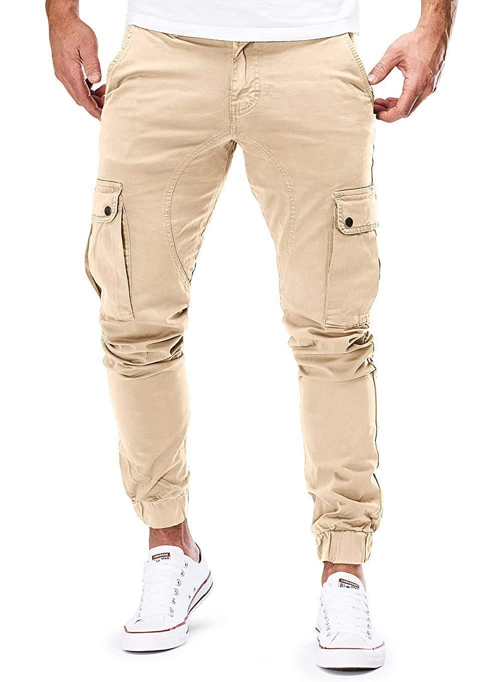 New Style Hot Selling Men Tatting Casual Pants Workwear Pocket Trousers Bags Beam Leg Trousers