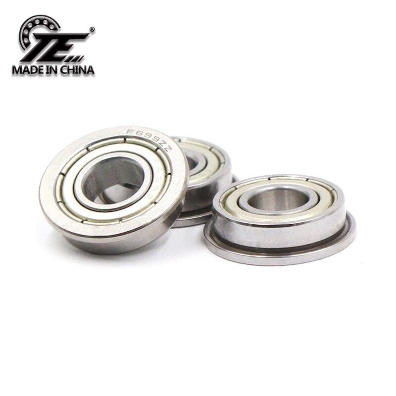 TE F698ZZ 8*19(22)*6mm 10pieces Bearing ABEC-5 Flange Bearings 698 F698Z F698ZZ Chrome Steel Deep Groove Bearing