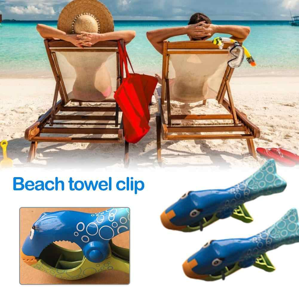 2 pçs grande cor brilhante roupas clipe animal forma plástico toalha de praia estacas grampos de clothespin para sunbed toalha clipe de praia 4