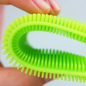 Image 5 - 1Pc Siliconen Schotel Spons Scrubber Keuken Schoonmaken Antibacteriële Tool Schotel Kom Magic Cleaning Brush Schuursponsje Wassen