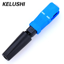 10/100pcs Free Shipping Ftth Embedded Type SC Fiber Cable Connector Fast Connector SC Fiber Optic Quick Connector KELUSHI