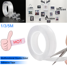 Multifunction Nano Tape Double Sided Household Wall Hangings Adhesive Glue Transparent Tapes Non-slip Stickiness Gel Grip
