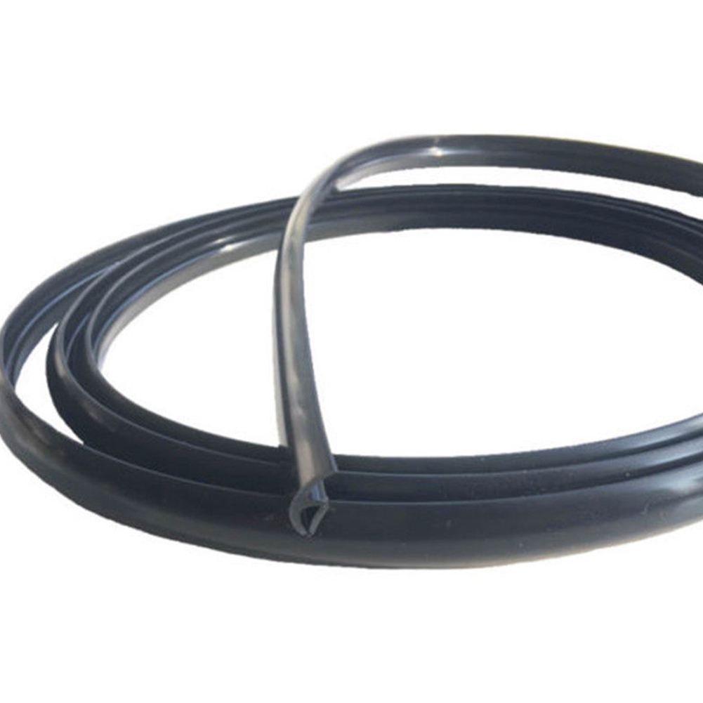 1.7 M Car Supplies Black Car Rubber Seal Universal Durable Trim Moulding Strips Sealed Strips Windshield Panel