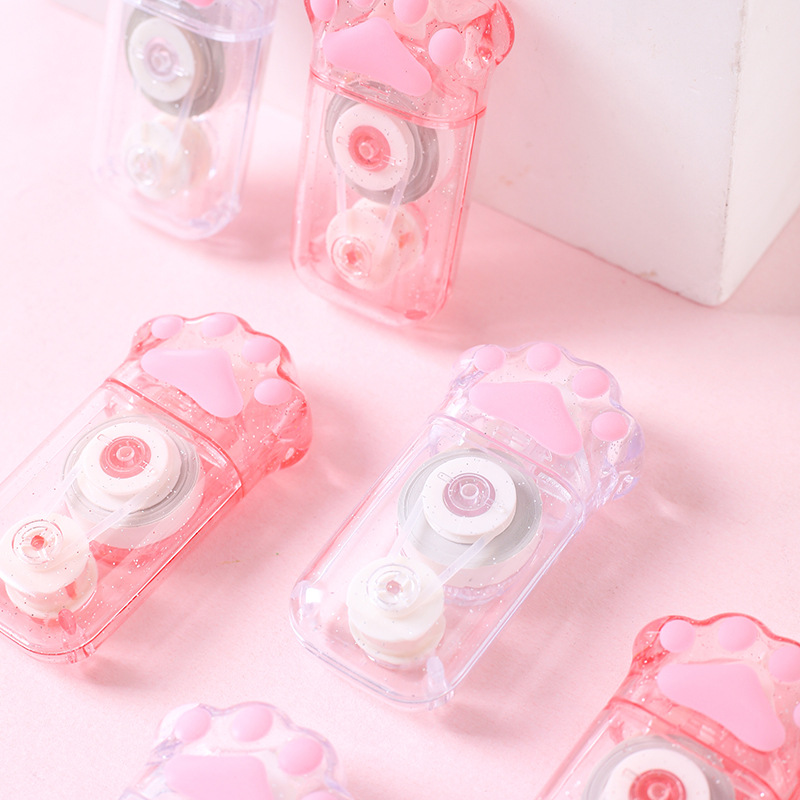 1PCS Cartoon Pink Cat Claw Correction Tape Stationery School Stationery