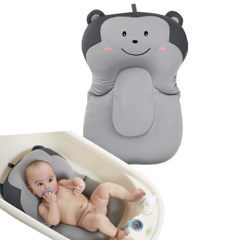 Baby Shower Bath Pad Portable Air Cushion Bed/Chair/Shelf Non-Slip Bathtub Mat Cartoon Safety Security Bath Seat Support Pillow