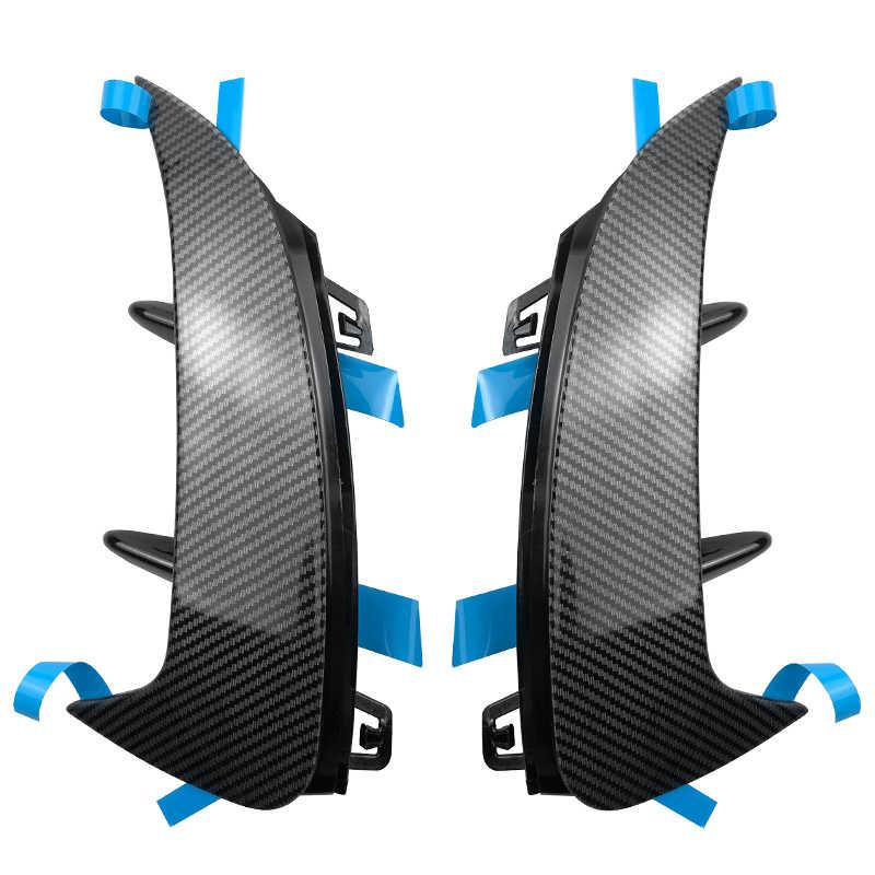 סיבי פחמן אחורי פגוש מדבקות לקצץ כיסוי פגוש ספוילר עבור מרצדס בנץ W177 Hatchback A180 A200 A250 A35 AMG 2019