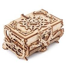 2020 nova madeira 3d montado criativo diy puzzle de madeira transmissão mecânica caixa antiga modelo montado brinquedo presente