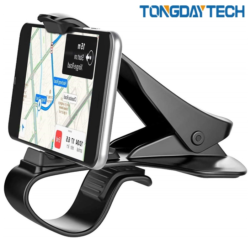 Tongdaytech Dashboard Car Phone Holder Clip Mount Stand Car Phone Stand GPS Display Bracket Car Holder Support 6.5 Inch Phone