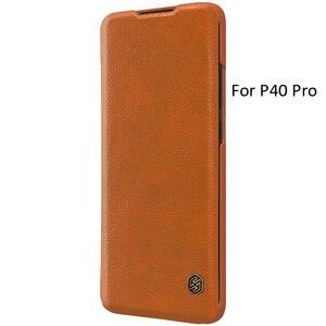 Image 4 - Nillkin Qin kitap Flip deri kılıf kapak için Huawei P40 Pro Pro + artı