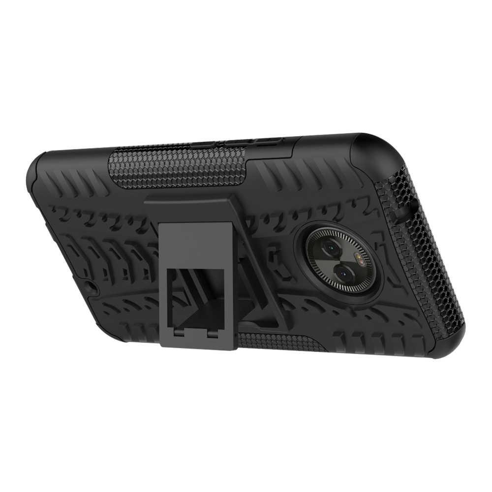 غلاف واقي مضاد للصدمات حالة ل موتو X4 C G4 G5 G6 زائد Z Z2 E4 زائد اللعب 2018 واقية الصلب المطاط السيليكون غطاء إطار هاتف محمول كوكه