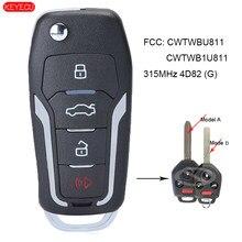 KEYECU ulepszona 4B etui z klapką pilot z kluczykiem samochodowym 315MHz 4D82 dla Subaru Forester Impreza Legacy 2012-2017 FCC: CWTWBU811, CWTWB1U811