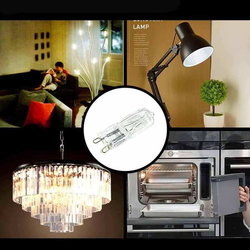2/10 sztuk G9 żarówka halogenowa do zawieszenia akcent typu Spot lampa Halogen żyrandol kinkiet oprawa światła zamienna żarówka