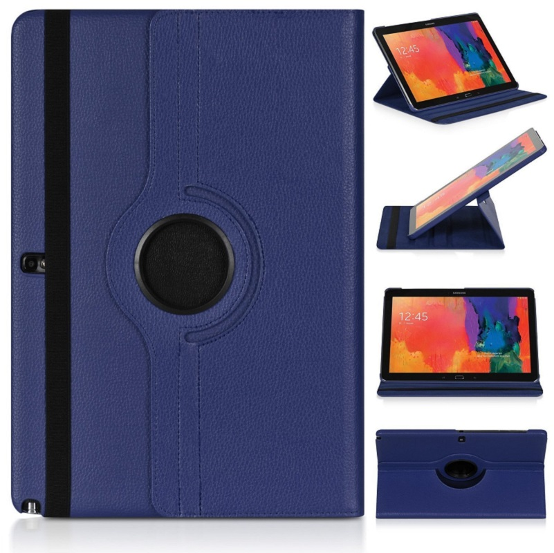 Case for <font><b>Samsung</b></font> Galaxy Note 10.1 2012 <font><b>GT</b></font>-N8000 N8000 N8010 N8020 Tablet Case 360 Rotating Bracket Flip Stand Leather Cover image