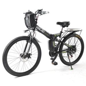 26-дюймовый складной электрический велосипед 48V 17AH литиевая батарея 1000W Взрослый электрический поддерживаемый внедорожный горный велосипед...