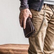 Carteira masculina de 4 cores, vintage, multifuncional, casual, porta-cartão, sólido, bolsa de mão, longa, carteira para negócios ao ar livre