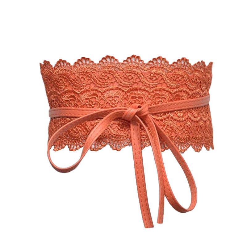 إمرأة سيدة تمتد مشبك حزام خصر دانتيل واسع مطاطا مشد حزام ل Sundress أسود أزرق برتقالي أبيض أحمر